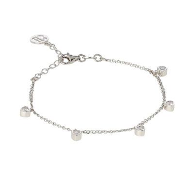 Bracelet with zircons to heart