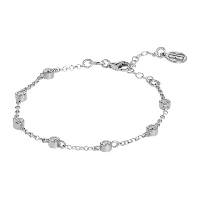 Bracelet with zircons diamond cut