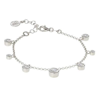 Bracelet with pendants of zircons diamond cut