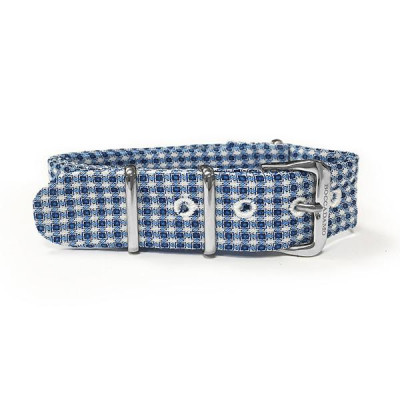 Sartorial strap pied de poule from the tones of blue and white