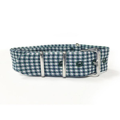 Sartorial strap pied de poule from the tones of green and white