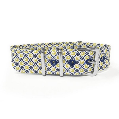 Sartorial strap reason optical yellow, blue and white