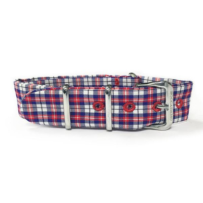Sartorial strap weft Twill red, blue and white