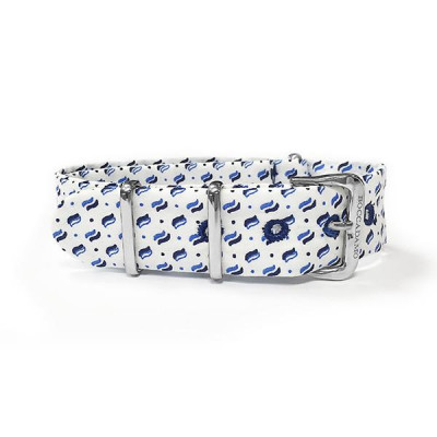 Sartorial strap micro fantasy Blue on White Background