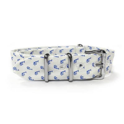 Sartorial strap with celestial dolphins