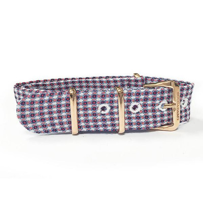 Sartorial strap weft Twill and buckle pink