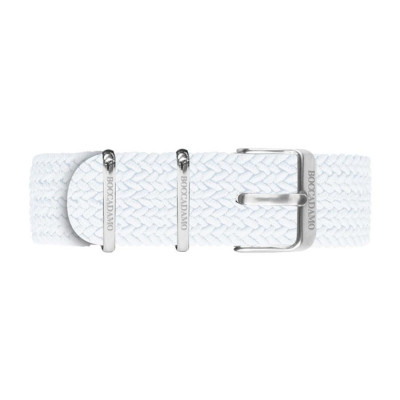 Cinturino in nylon Perlon bianco