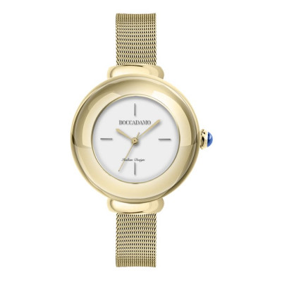 Wristwatch woman with quadrant rosato and cabochon crown