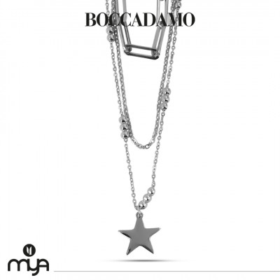 Multi-strand necklace with star