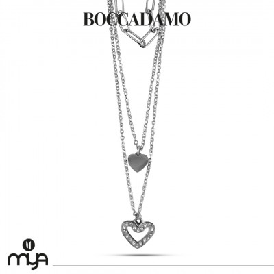 Necklace with heart and rhinestones