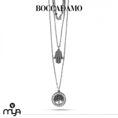 Tree of life and rhinestone necklace