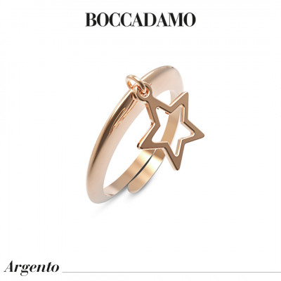 Ring with pierced star