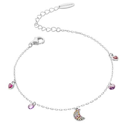 Bracelet with multicolor cubic zirconia