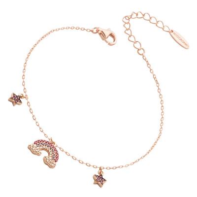 Bracelet with rainbow and multicolor zircon stars