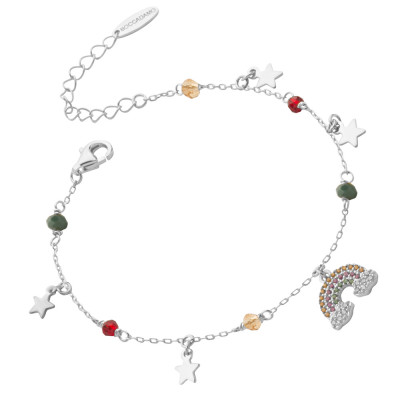 Bracelet with rainbow of cubic zirconia and stars