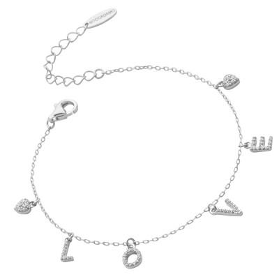 Bracelet with cubic zirconia LOVE