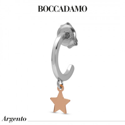 Two-tone mono earring with star
