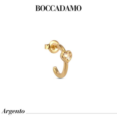 Mono earring with golden heart zircon