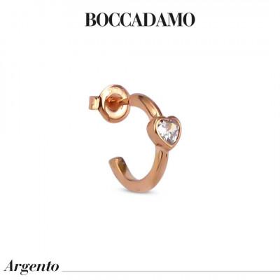 Mono earring with white heart zircon