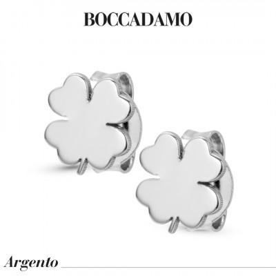 Four-leaf clover-shaped lobe earrings