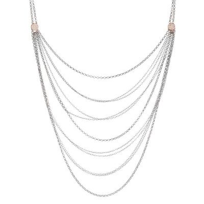 Multi-Strand necklace with zircons