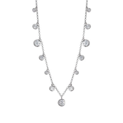 Necklace with pendant degradèdi zircons diamond cut