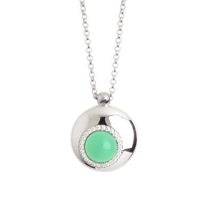 Necklace with central pendant moon eclipse