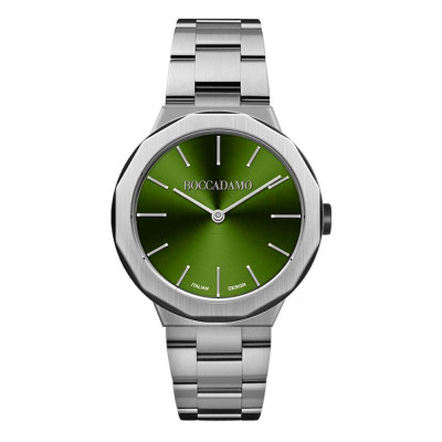 Watch two hands with green dial