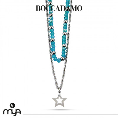 Necklace with turquoise crystals and star