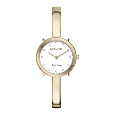 Women's gold only time watch with Swarovski indexes