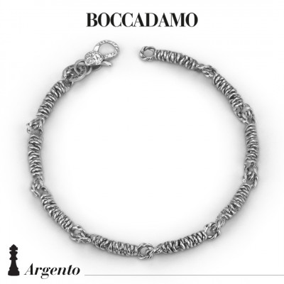 Silver twisted cord bracelet