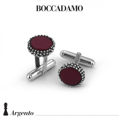 Cufflinks with red agate
