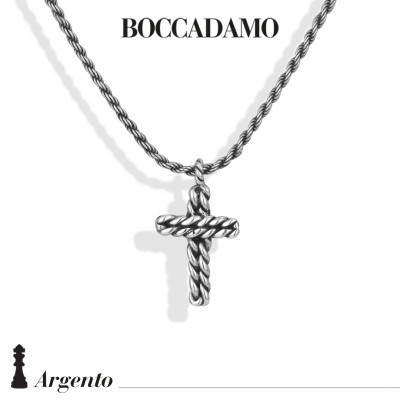 Necklace with rope crucifix