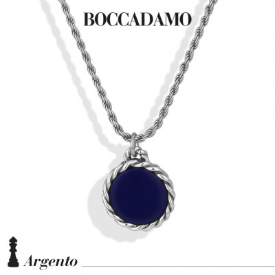Necklace with blue agate