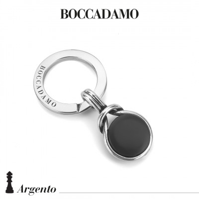 Knot keyring with black agate
