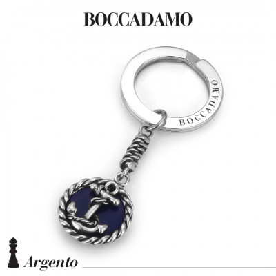 Keychain with anchor and blue agate
