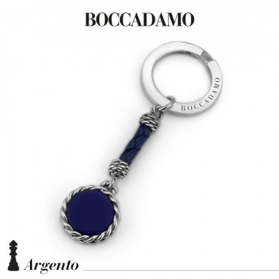 Rope keychain with blue agate