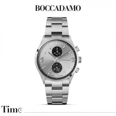 Chronograph watch with silver dial