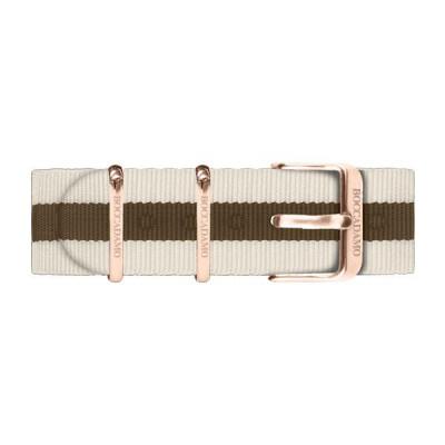 Cinturino in nylon grigio e marrone