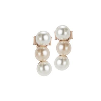 Earrings rosati lobe with Swarovski beads