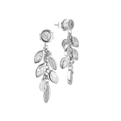 Cluster earrings with zircons
