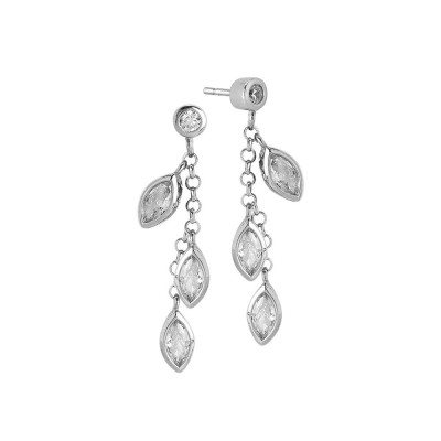 Earrings Pendant with zircons to shuttles brilliant cut