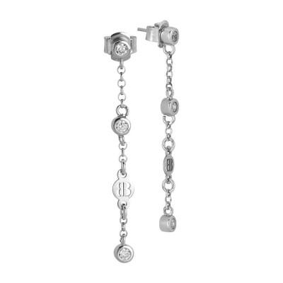 Earrings Pendant with zircons diamond cut