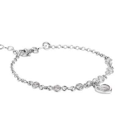 Bracciale in argento con zirconi crystal