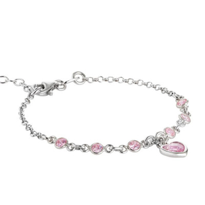 Bracciale in argento con zirconi rosa