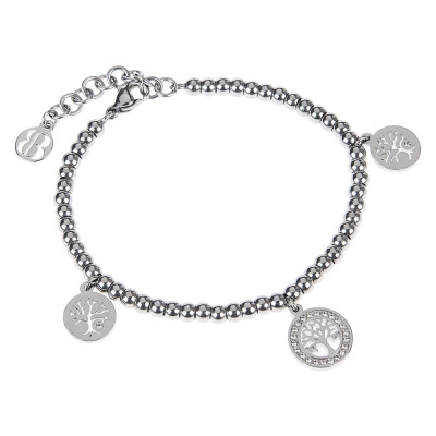 Bracelet bead with charm in the shape of a tree of life