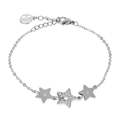 Bracelet bead with central decoration of stars and zircons
