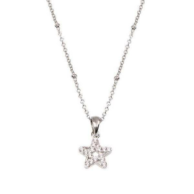 Collana in argento con stella pendente in zirconi