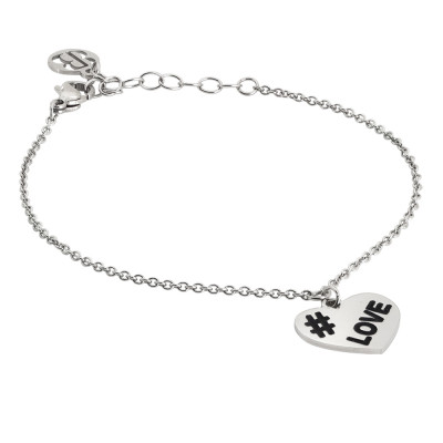 Bracelet with heart charm