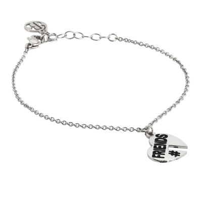 Bracelet with open heart charm
